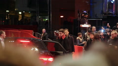 Red carpet celebrity arrivals, 66th Berlinale closing ceremony, media, Berlin - stock footage
