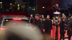 Celebrities arrive at red carpet, 66th Berlinale closing ceremony, Berlin - stock footage