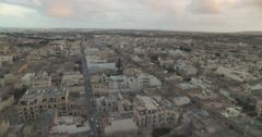 Aerial Shot of a small City Stock Footage