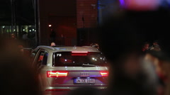Car arrives at Berlinale film festival red carpet ceremony, Berlin, Germany Stock Footage