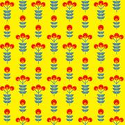 Paper Trendy Flat Flower Seamless Pattern Vector Illustration Stock Illustration
