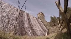 Static view of Derwent Dam in Derbyshire, UK Stock Footage