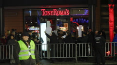 Protesters protest against Turkey government in Berlin Germany Stock Footage