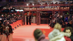 66th Berlinale film festival, red carpet entrance, Potsdamer Platz theater Stock Footage