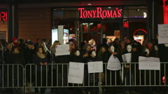 Protestors protest against Turkey Recep Tayyip Erdoğan in Berlin Germany Stock Footage