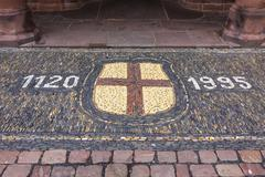Details of pavement near the Old Town Hall building (Altes Rathaus) at Rathau - stock photo