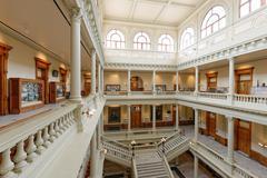 Georgia State Capitol Building Interior Atrium from Third Level - stock photo
