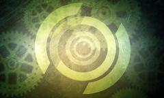 Abstract background with cog wheels - stock illustration