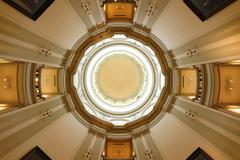 Georgia State Capitol Building Interior Looking Upwards to Open Rotunda Stock Photos