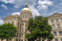 Georgia State Capitol Building Exterior on Summer Day in Atlanta - stock photo