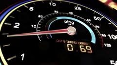 4K Internet Bandwith Download Upload Speed Meter 4 Stock Footage