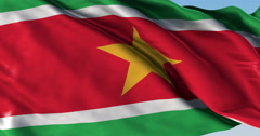 Ultra realistic looping flag: Suriname Stock Footage