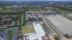Beautiful aerial doral video of neighborhoods Stock Footage
