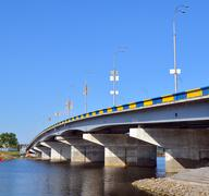 Bridge across the Dnieper River in Kiev. Stock Photos