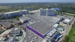 Aerial video Seminole Hardrock Casino Stock Footage