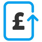 Reverse Pound Transaction Flat Vector Icon Symbol - stock illustration