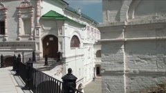 Old Ryazan Kremlin walls and towers in Russia Stock Footage