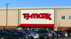 TJ Maxx department store retailer - stock footage