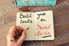 Written text Build Your Ranks On Social Media - stock photo