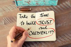 Text Take The Time To Build Trust and Credibility - stock photo