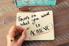 Written text Focus On What You Want To Achieve - stock photo