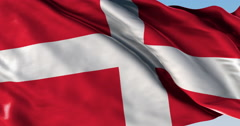 Ultra realistic looping flag: Sovereign Order Malta - stock footage