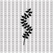 algae icon design - stock illustration