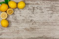 Frame from lemons Stock Photos