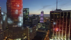 Aerial Downtown Miami at night 4k Stock Footage