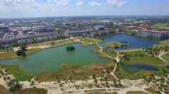 Aerial helicopter tour Doral Florida Stock Footage