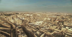 Aerial Shot over a small city Stock Footage
