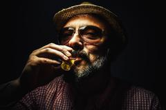 Cheers From a Man Stock Photos
