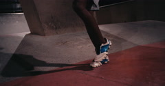 Afro-american athlete busy jumping rope for exercise Stock Footage