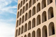 The Palazzo della Civiltà Italiana, aka Square Colosseum, Rome, Italy Stock Photos