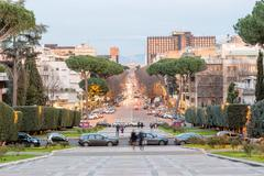 View over Viale Europa, EUR district, Rome, Italy - stock photo