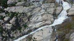 Aerial Footage of Rhone River cascade in Switzerland, 4K, UHD Stock Footage