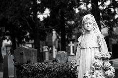 Old Cemetery statue Stock Photos