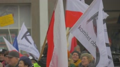 People's Faces Democracy Committee's Rally Opole Poland Meeting Against Stock Footage