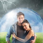 Couple protects their relationship - stock photo