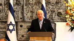 President Rivlin congratulates 21 judges and registrars Stock Footage