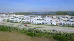 Aerial video of modern doral development Doral Florida Stock Footage