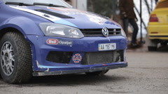 "Ukraine, Carpathians Rally Championship ""Winter peaks"" March  - stock footage"