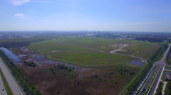 Aerial video of undeveloped Doral Florida Stock Footage