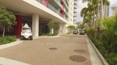 Arriving at the Beachwalk Resort Hallandale Stock Footage