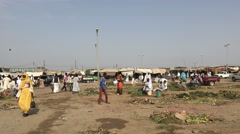 African arabic market - Port Sudan, Sudan - stock footage