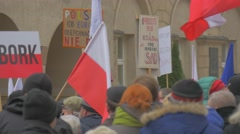 Young People Meeting of Democracy Defense Committee Opole Poland Dad Holding a Stock Footage