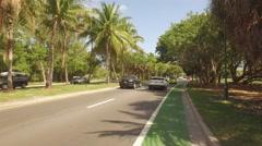 Biking at Crandon Park Key Biscayne Florida - stock footage
