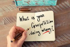 Written text What Is Your Competition Doing Wrong? - stock photo