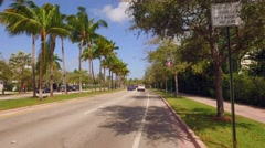 Crandon Boulevard Key Biscayne Bikers point of view Stock Footage