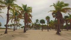 Crandon Park Beach scene Stock Footage